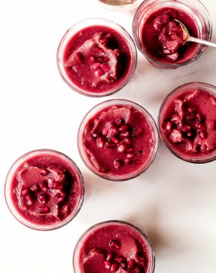 Beet Acai Pomegranate Smoothies