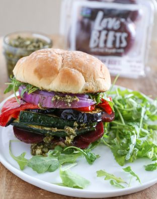 Deconstructed Pesto Veggie Burger