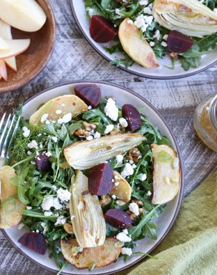 Roasted Fennel Apple Beet Salad Recipe