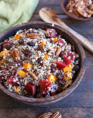 Roasted Butternut Squash & Beet Quinoa Stuffing