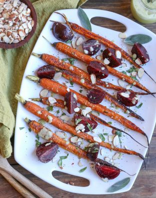 Roasted Beets & Carrots with Sage Dipping Sauce