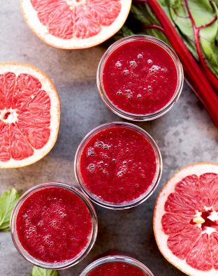 ruby red grapefruit and beet smoothie