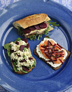 Beet Sandwich Trio