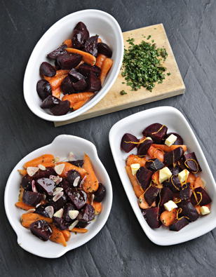 Roasted Beets & Carrots — 3 Ways!