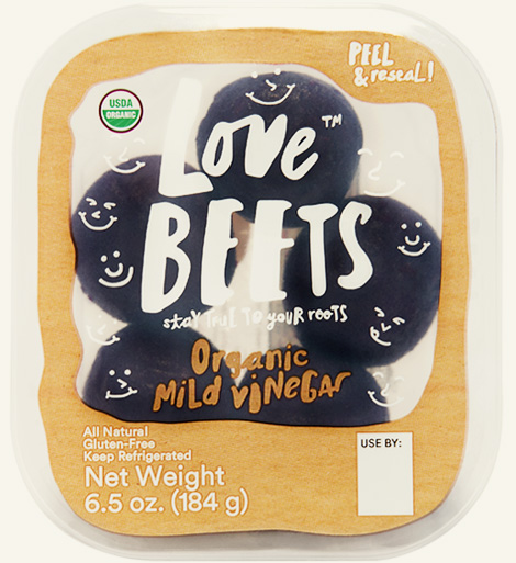 precooked organic mild vinegar beets