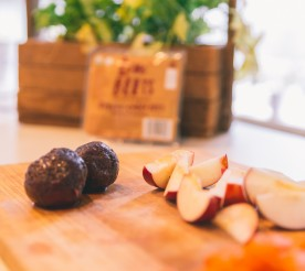 beets and apples on a cutting board