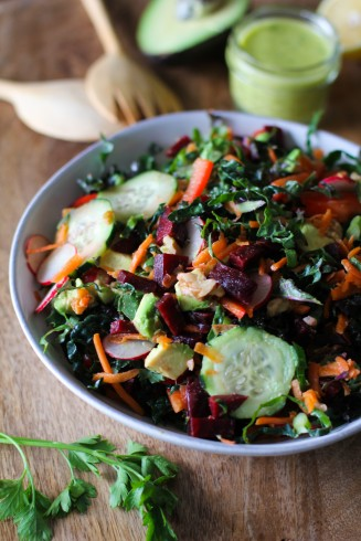 salad with beets and cucumbers