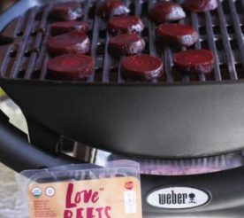 beets on a grill