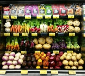 love beets packages on a display shelf with other vegetables