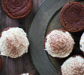 red velvet beet cupcakes with frosting