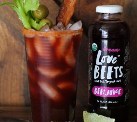 bloody mary with organic beet juice