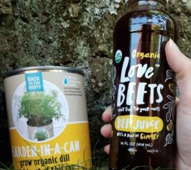 garden in a can and beet juice