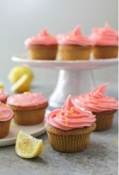 beet cupcakes with frosting