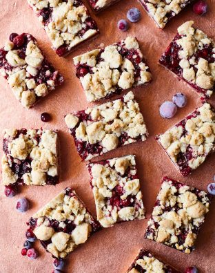 cranberry beet pie bars for thanksgiving