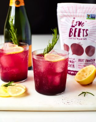 Beet Balsamic and Lemon Ginger Shrub