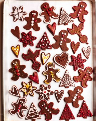 spiced beet gingerbread cookies