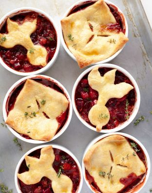 beet filled pot pies